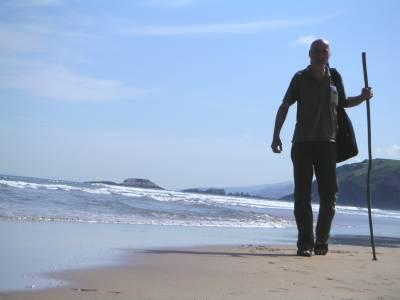 Paul Lahninger auf Pilgerreise