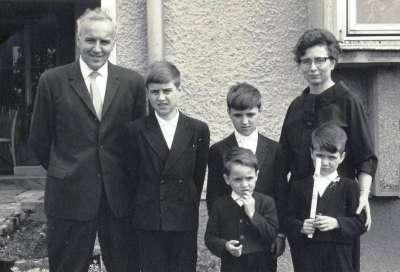 Paul Lahninger mit Familie 1965